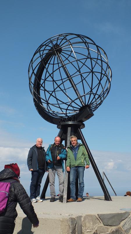 Nordkap die Drei vom Wohnmobil