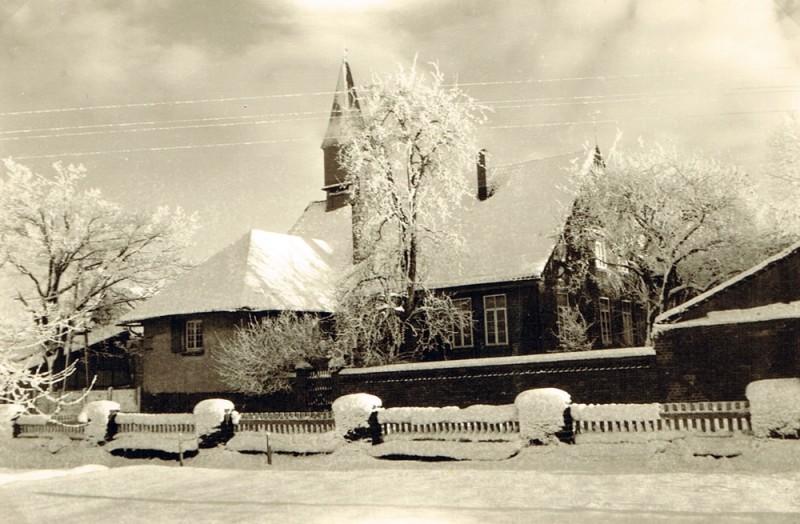 Ehemaliges Schulgebäude im Oberdorf, Aufnahme ca. 1955