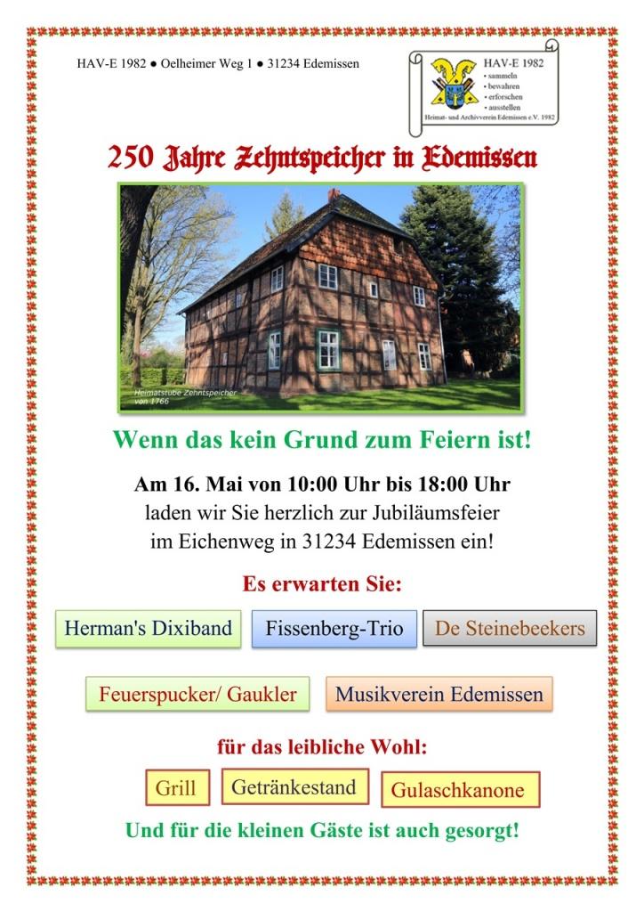 Plakat 250 Jahre Zehntspeicher_a