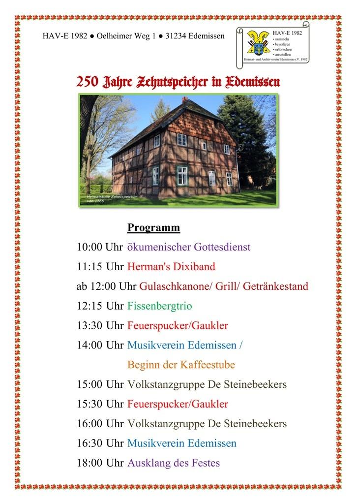 Plakat Programmzeiten 250 Jahre Zehntspeicher_a