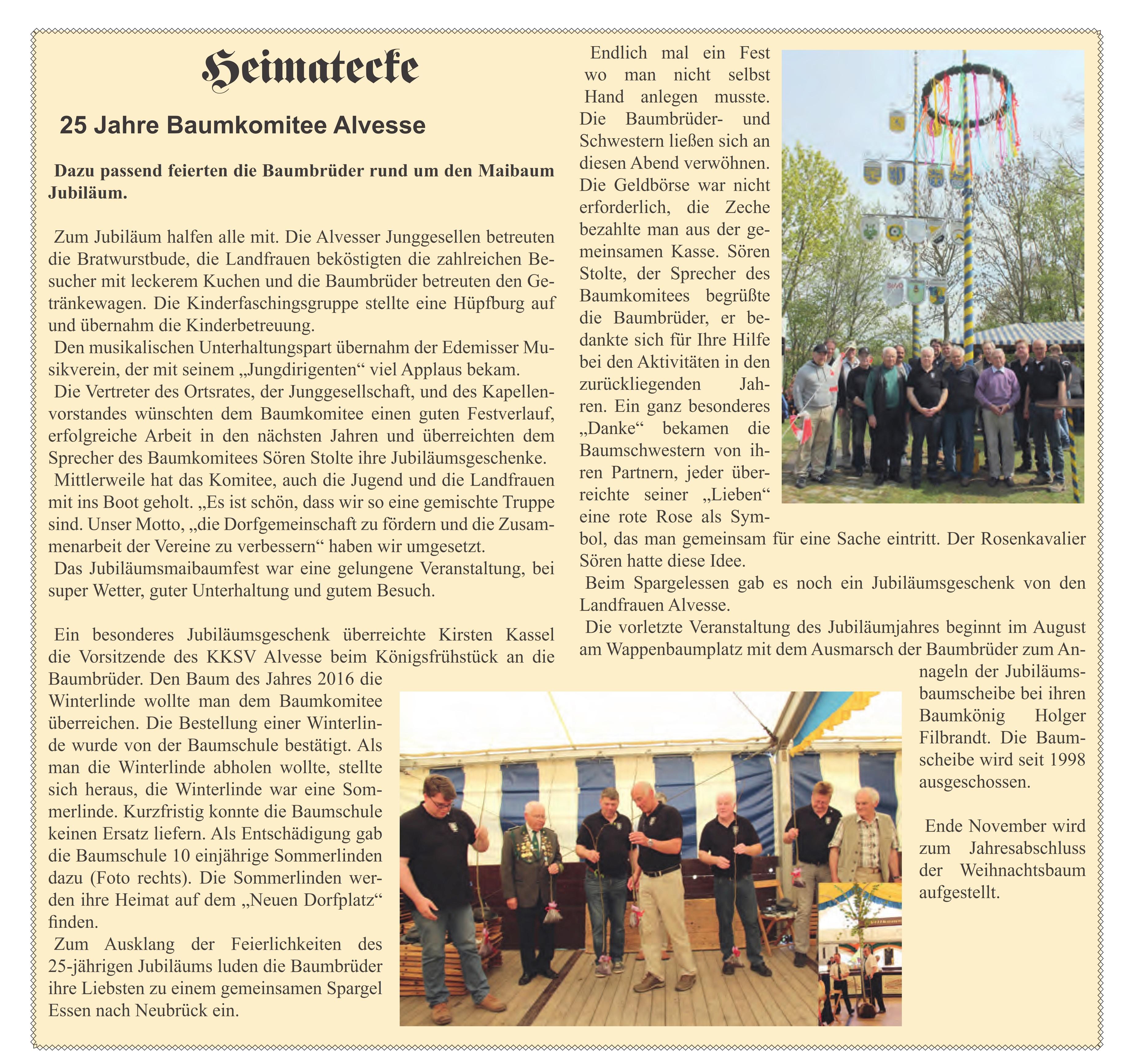 25 Jahre Baumkomitee Alvesse